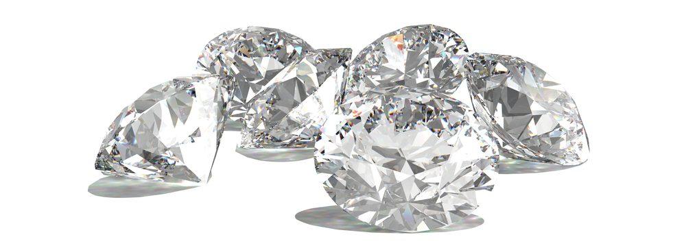 Diamonds,Isolated,On,White,3d,Model